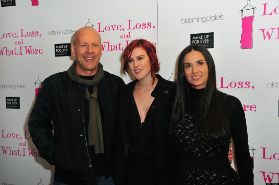 Rumer, Demi and Bruce Willis