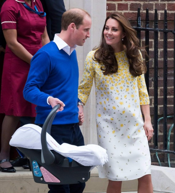 Prince William and Kate Middleton with daughter