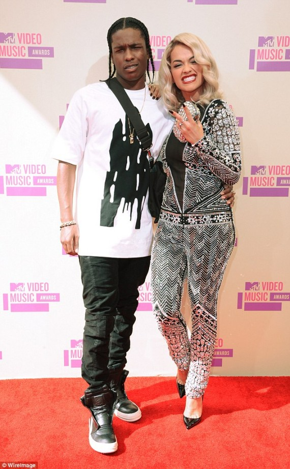 Rita Ora and ASAP Rocky on the VMAs
