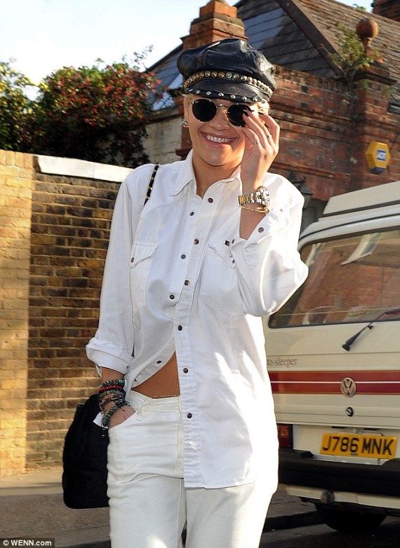 Rita Ora in white