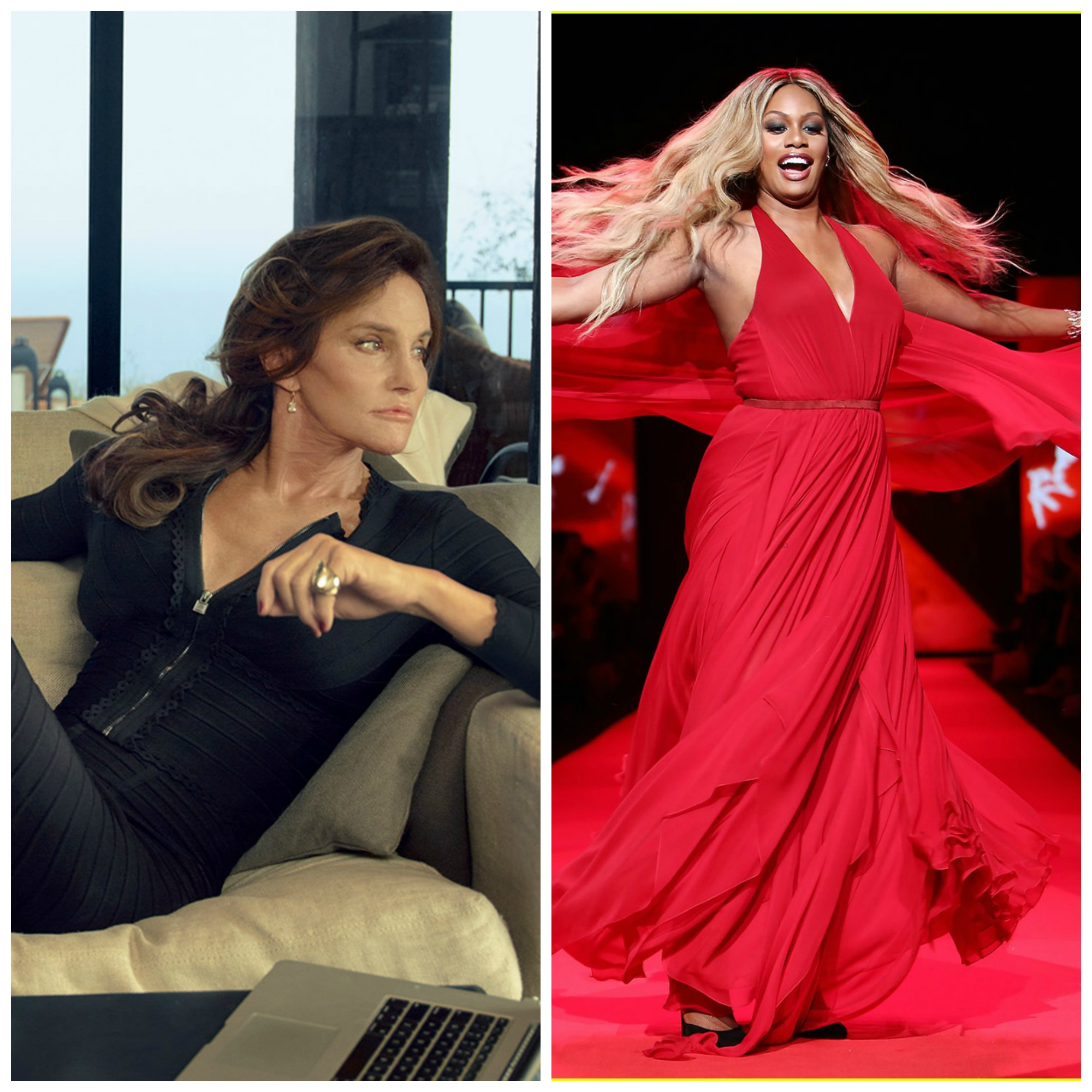 Caitlyn Jenner and Laverne Cox