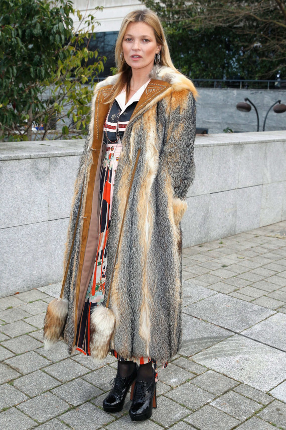 Kate Moss at the Louis Vuitton fashion show 2015