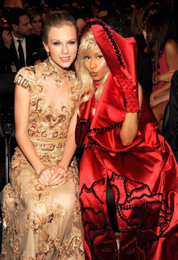 The 54th Annual GRAMMY Awards - Taylor Swift and Nicki Minaj
