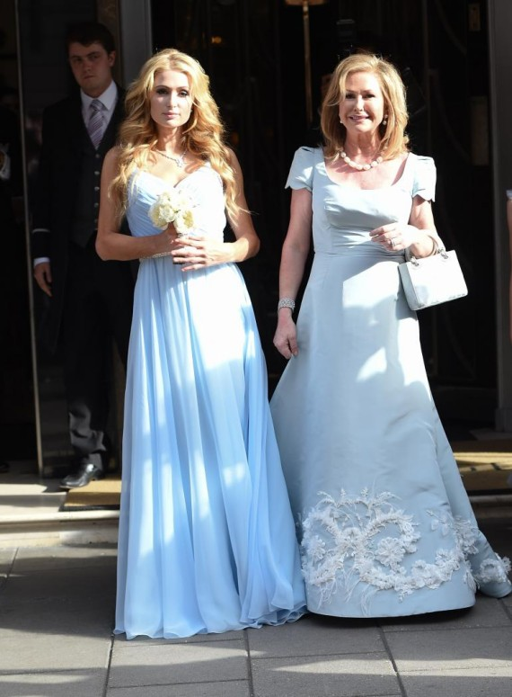 Paris and Kathy Hilton at Nicky wedding