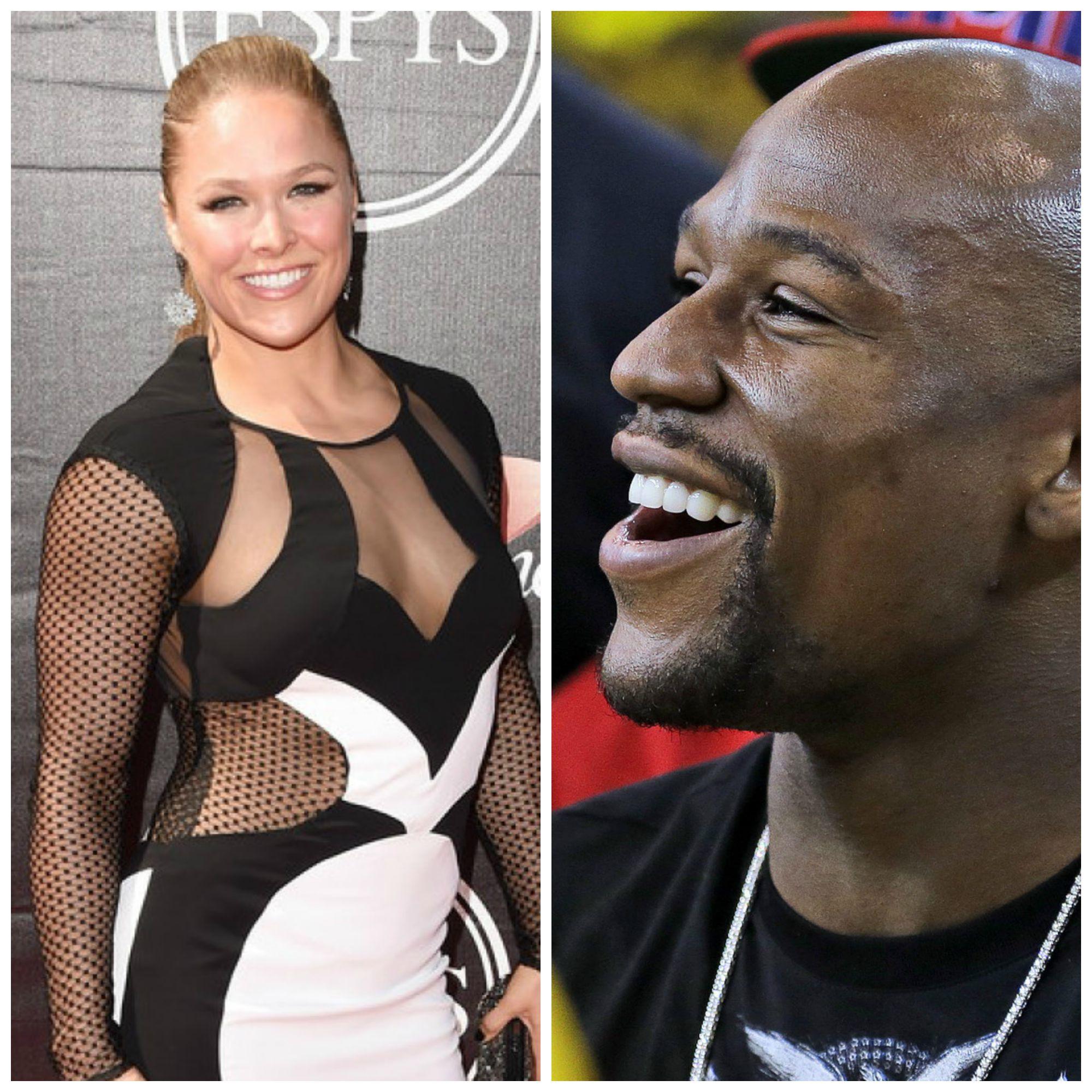 "Ronda Rousey ""Beats"" Floyd Mayweather On The 2015 ESPYs!"