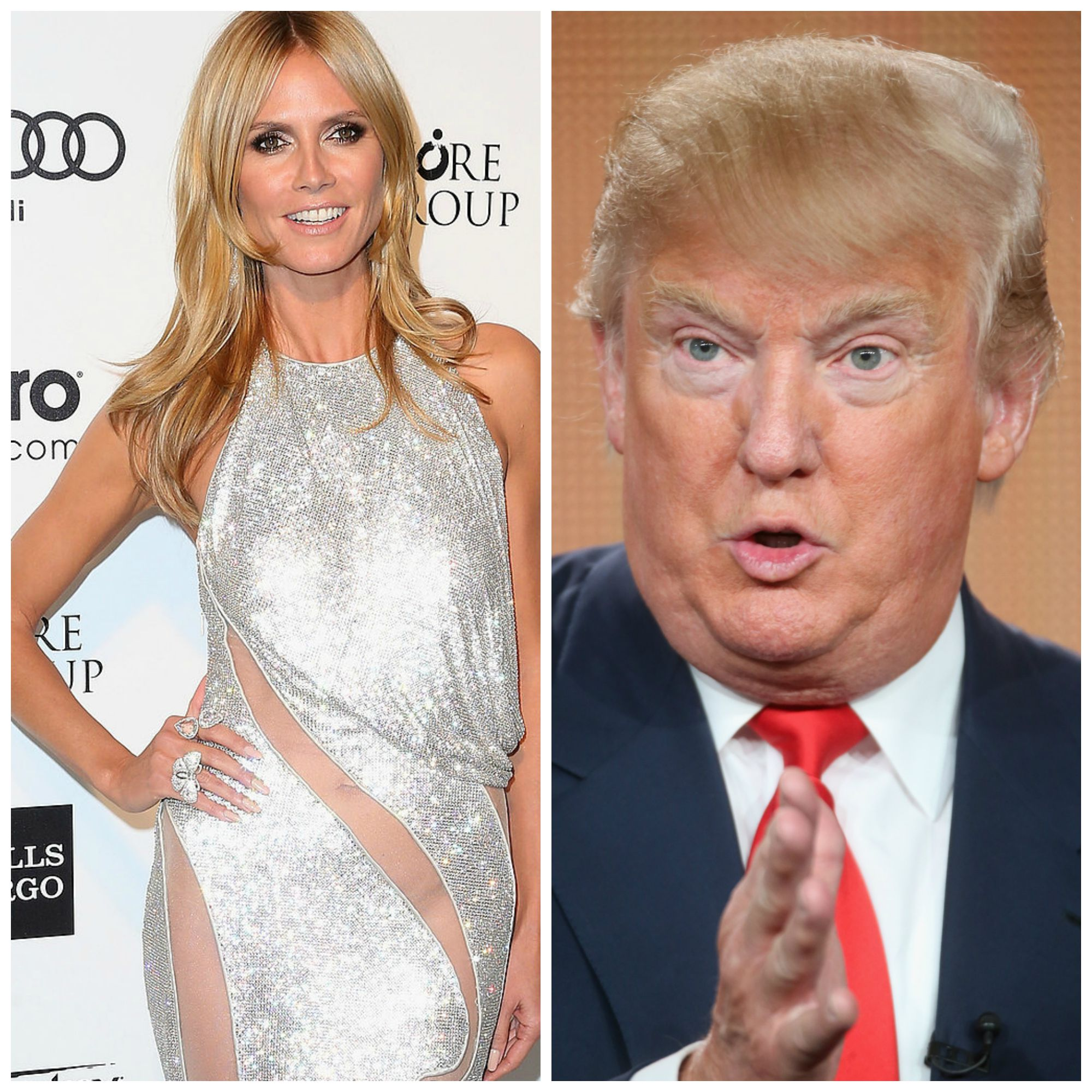Heidi Klum and Donald Trump