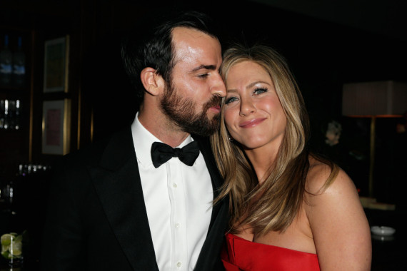 2013 Vanity Fair Oscar Party - Justin Theroux and Jennifer Aniston