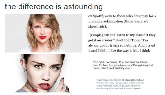 Miley vs Taylor