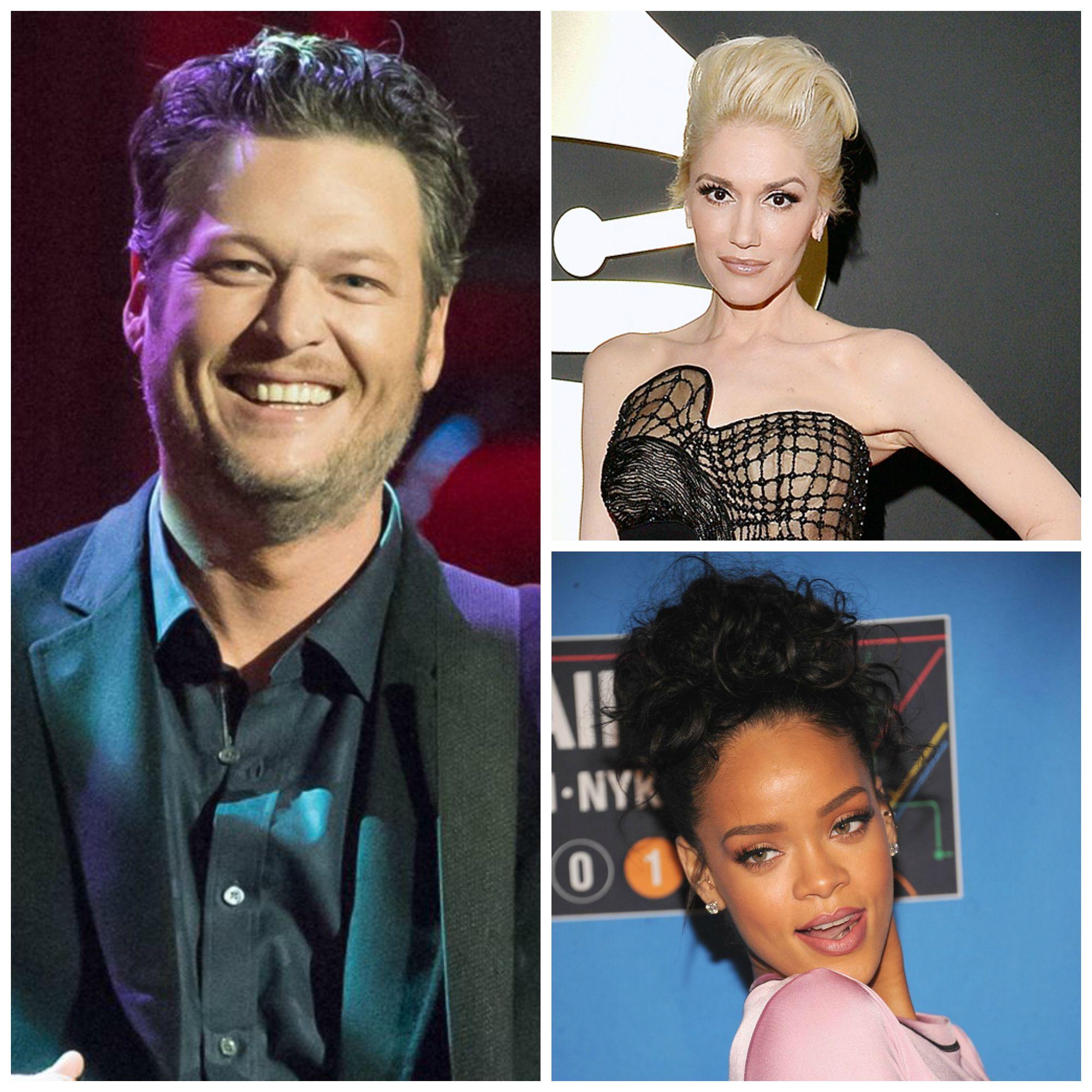 Blake Shelton, Gwen Stefani, Rihanna