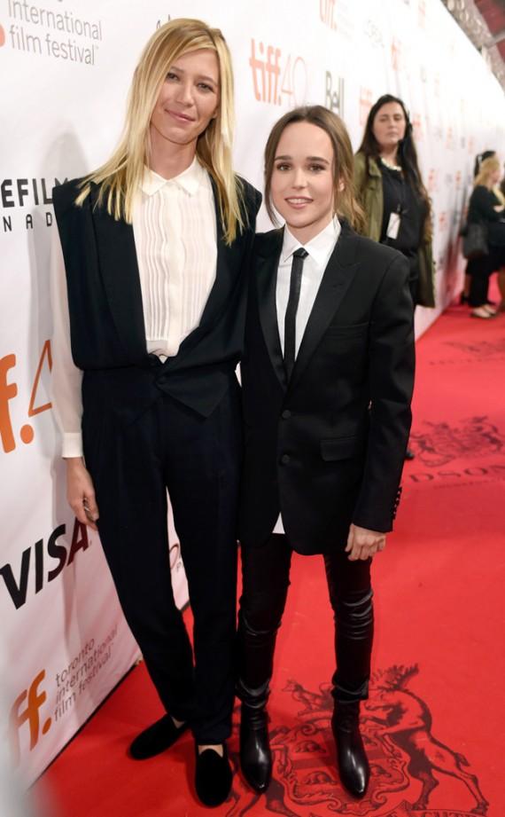 Ellen Page and GF Samantha Thomas