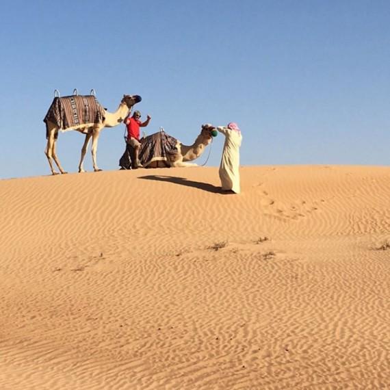 Eva Longoria in the desert