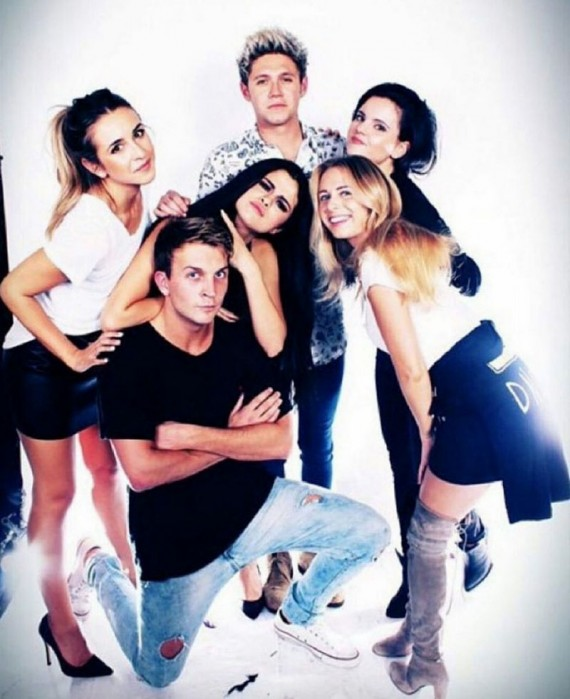 Niall Horan and Selena Gomez at Jenna Dewan-Tatum birthday