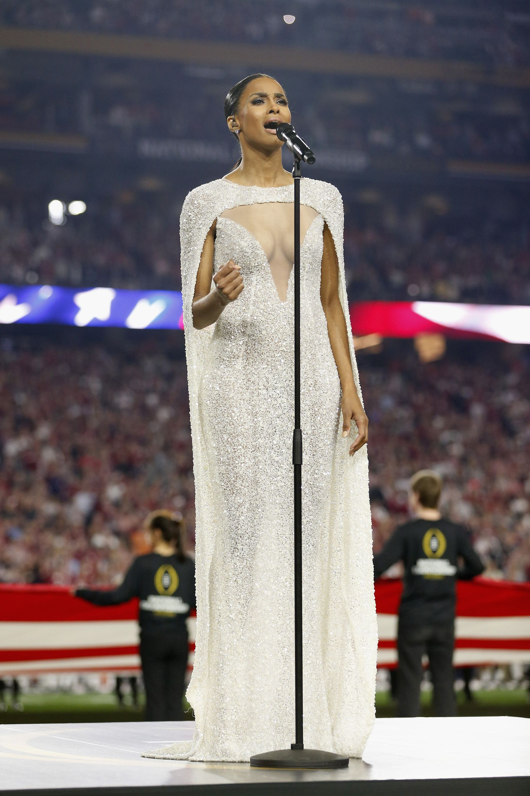 Ciara's Revealing NFL Dress Causes A Stir!