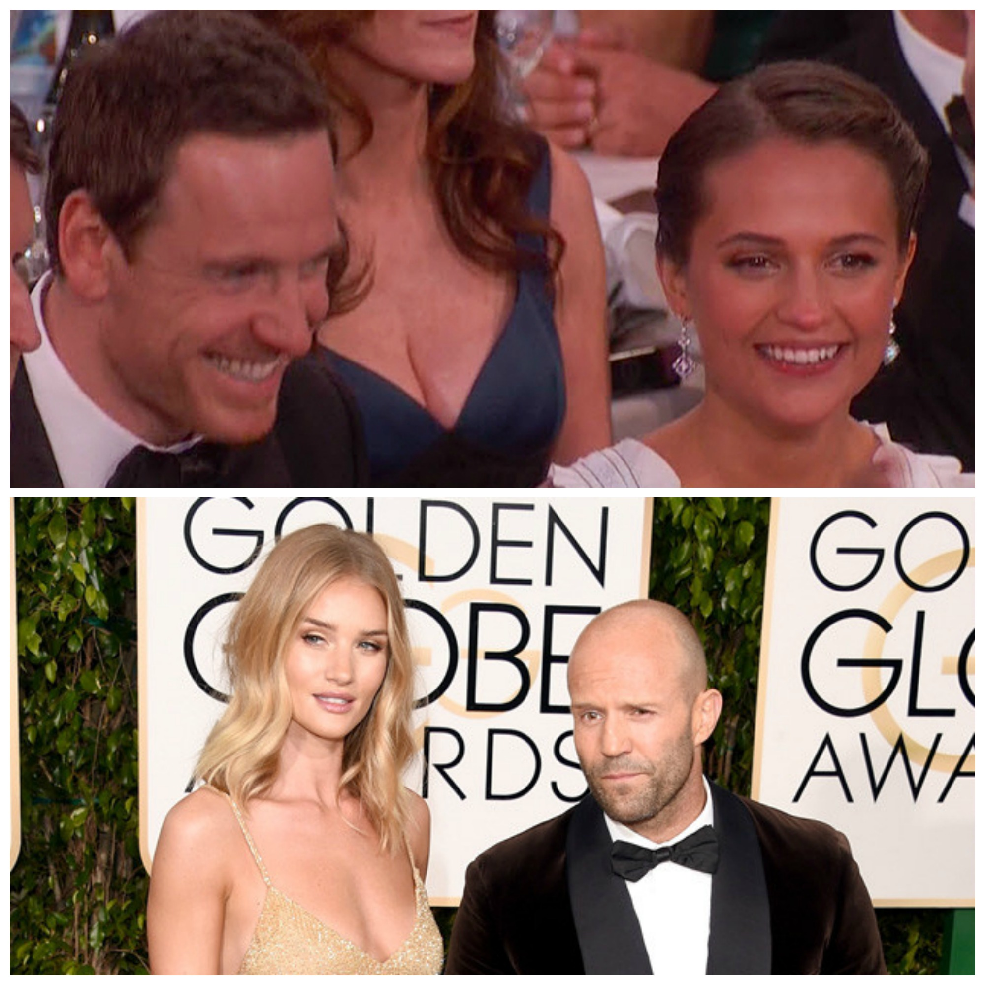 Jason Statham & Michael Fassbender Bring Love To The GOLDEN GLOBES! [PHOTOS]