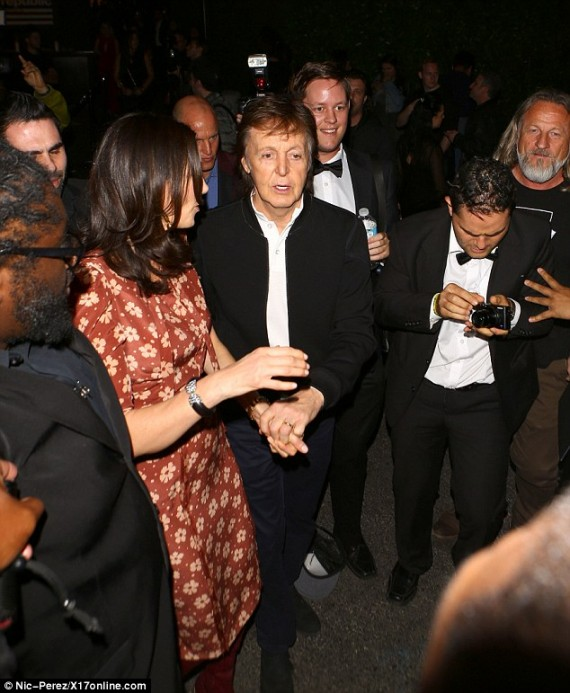 Paul McCartney at Republic Records party