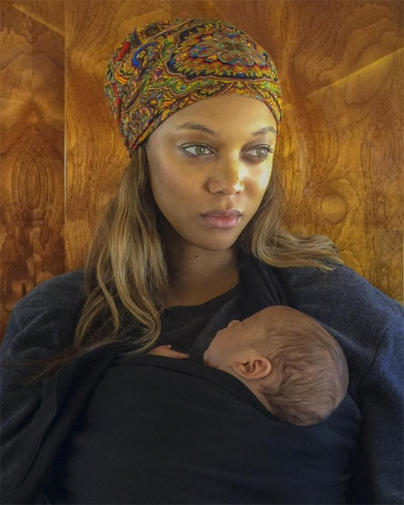 Tyra Banks and son York