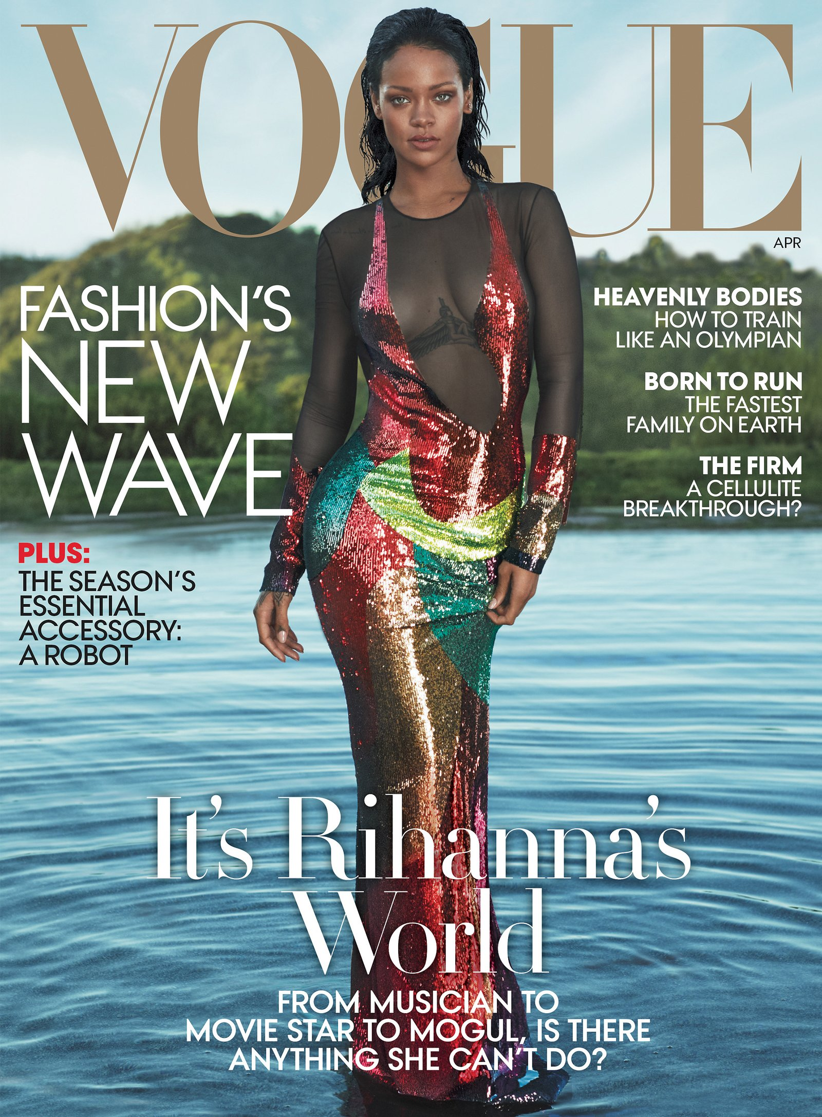 Rihanna Is Vogue's Cover Girl This April! [PHOTOS]