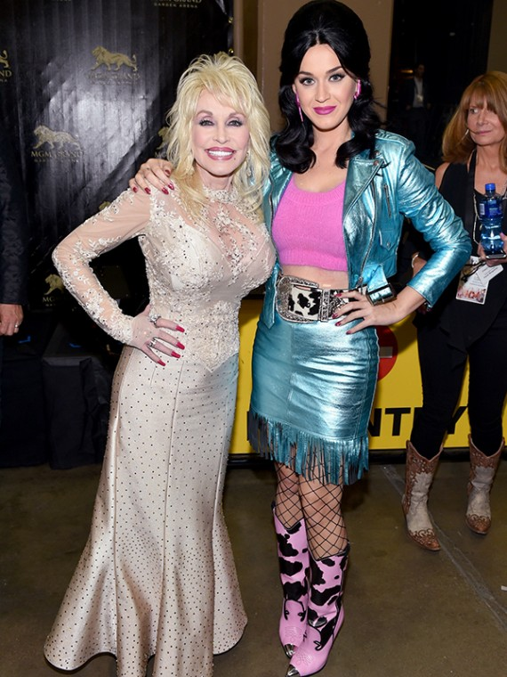 Dolly Parton and Katy Perry ACM 2016