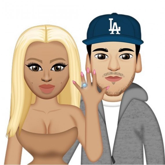 Rob Kardashian and Blac Chyna cartoon
