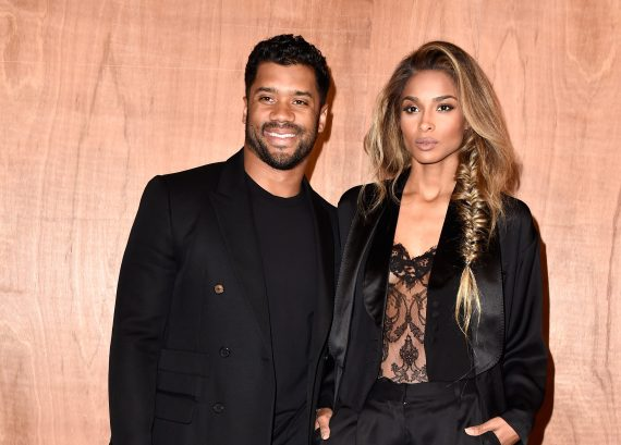 Ciara and current beau Russell Wilson (c) Getty