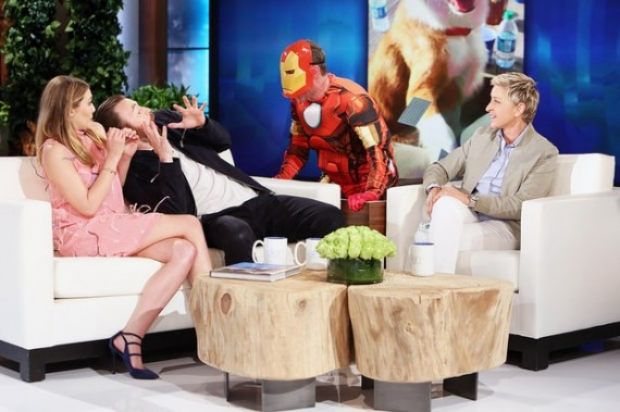 Elizabeth Olsen and Chris Evans on Ellen