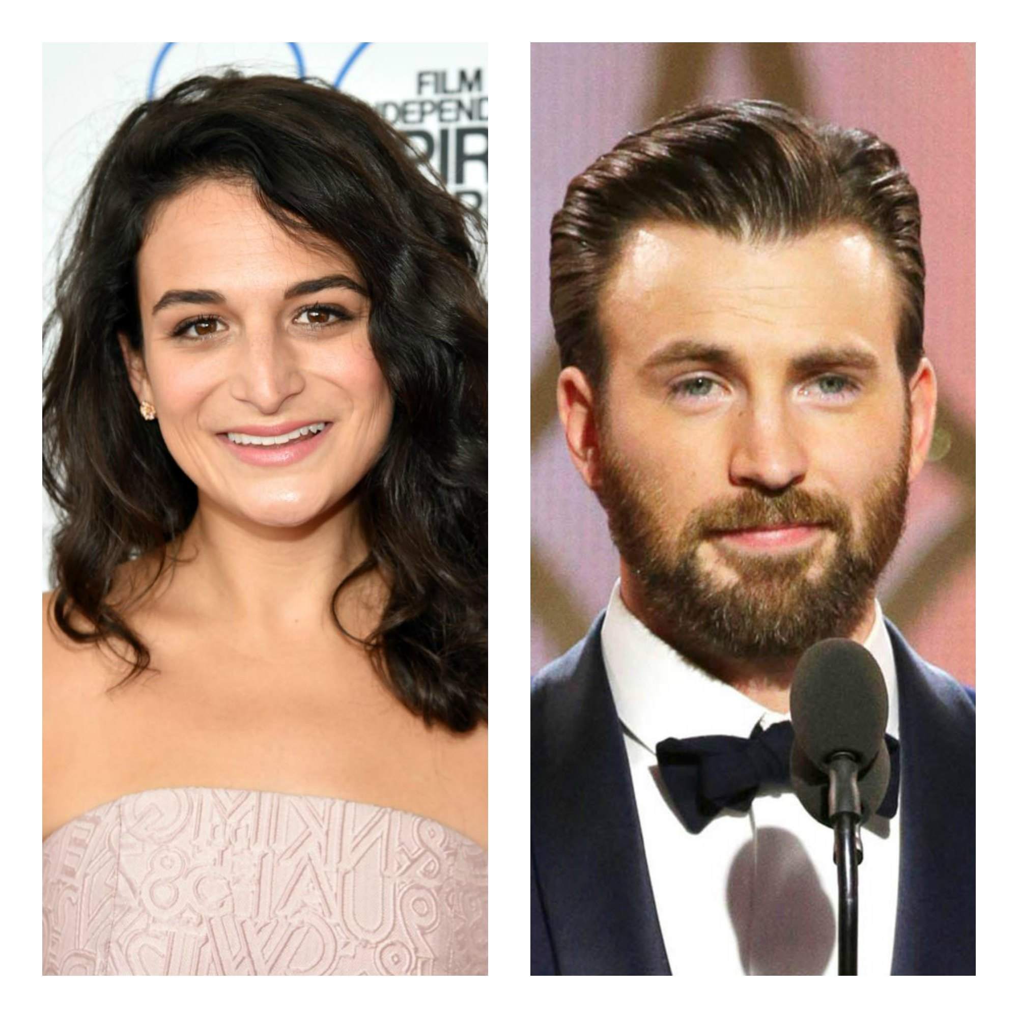 Jenny Slate and Chris Evans