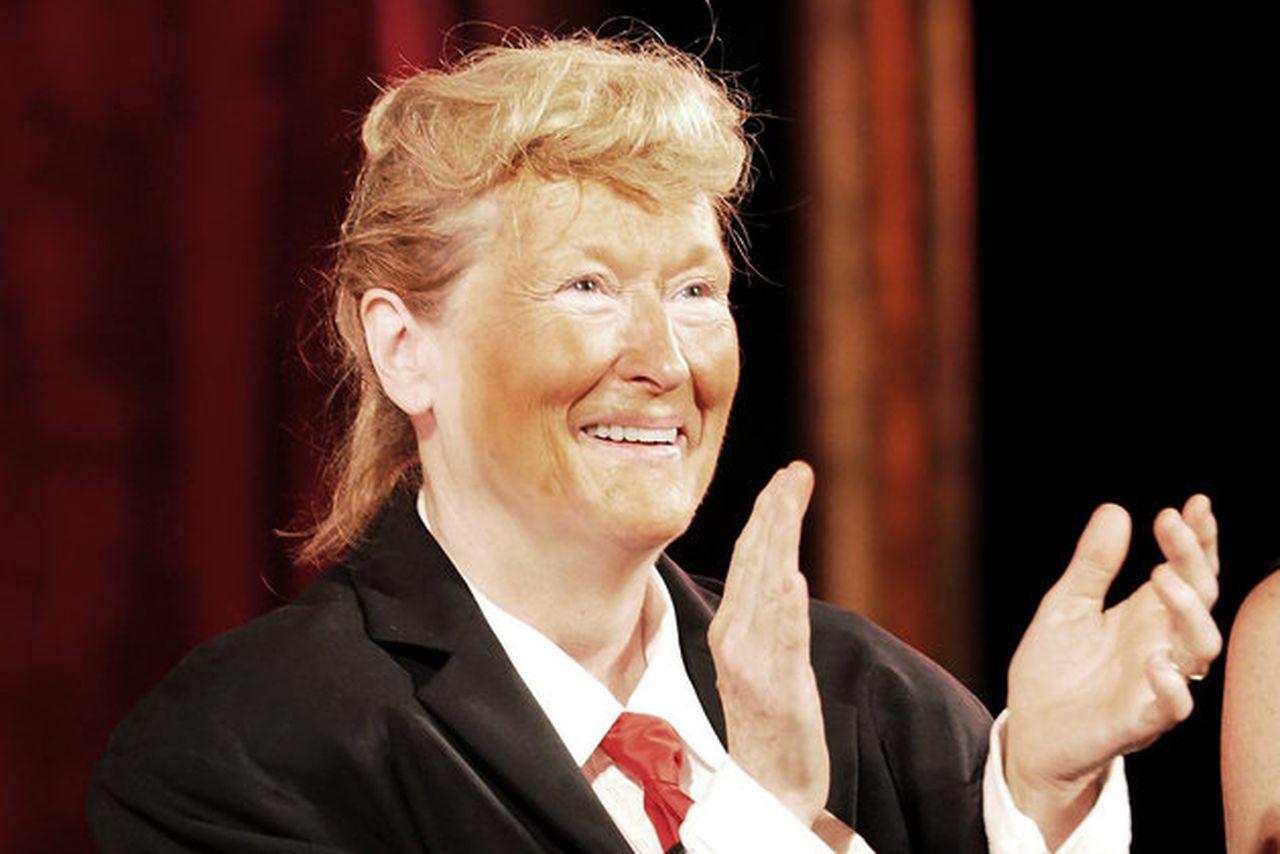 Meryl Streep's Latest Role: Being Donald Trump! [PHOTOS]