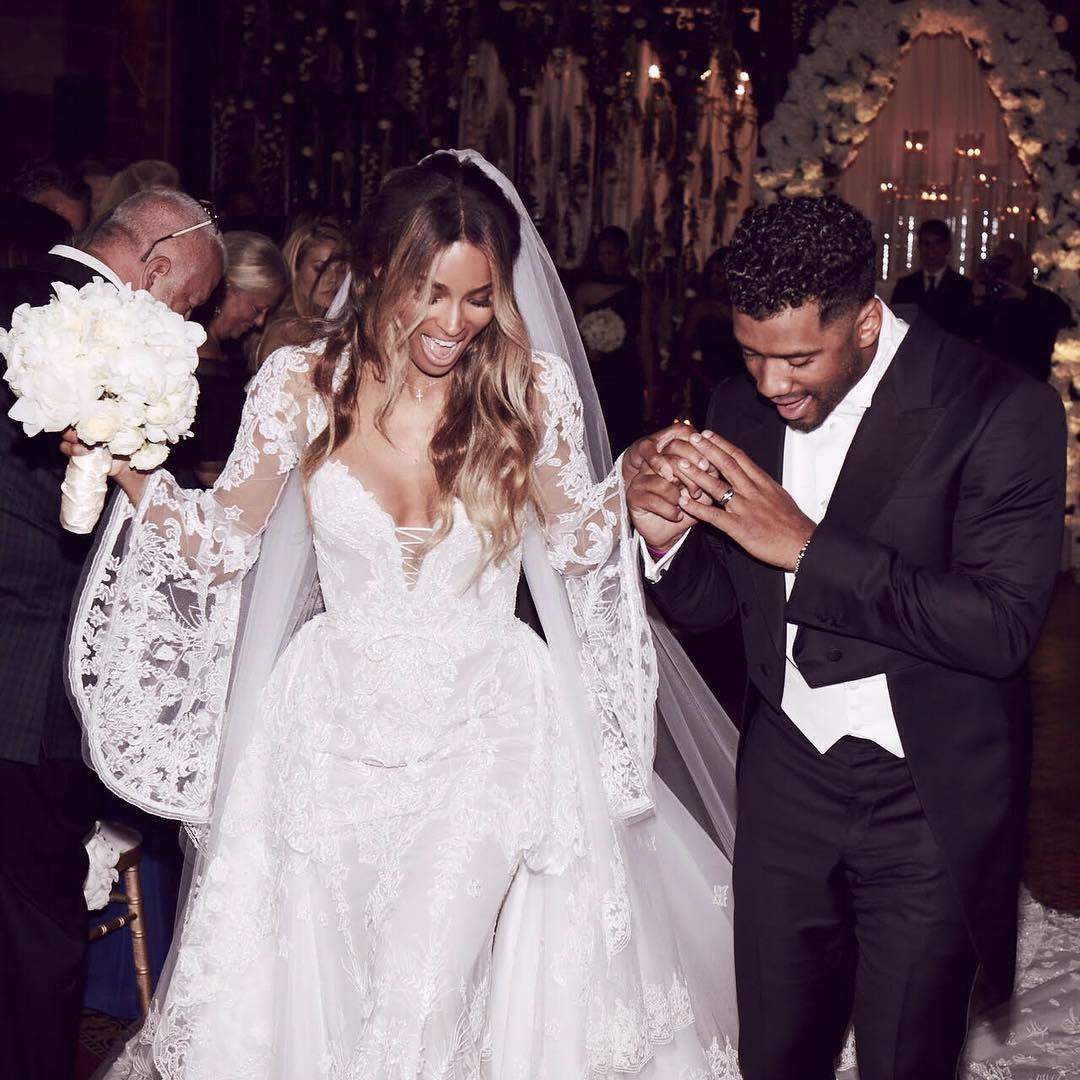 Ciara & Russell Wilson Tie The Knot! [PHOTO]