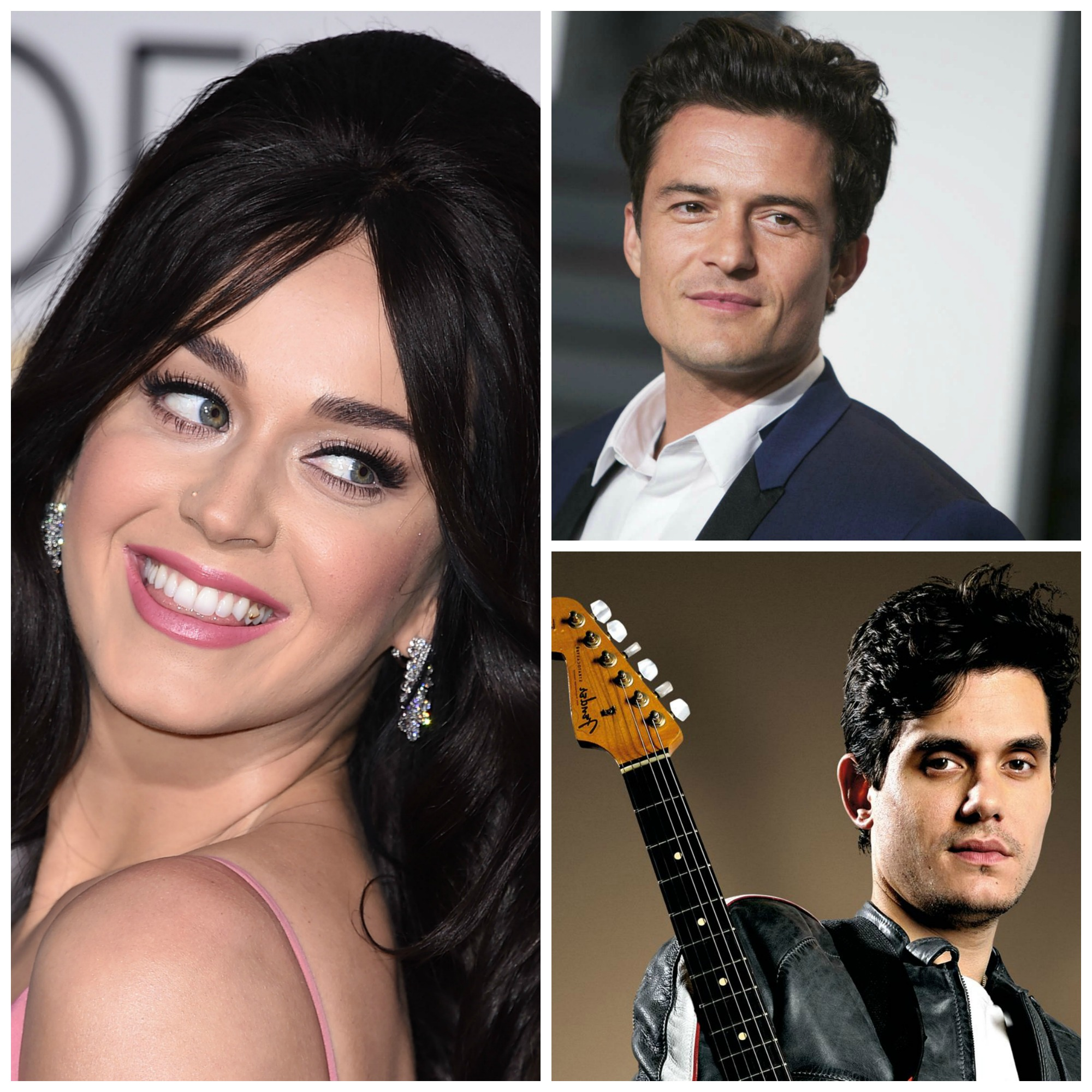 Katy Perry, Orlando Bloom, and John Mayer