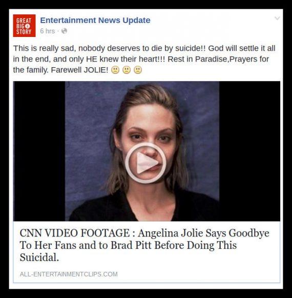 Angelina Jolie death hoax