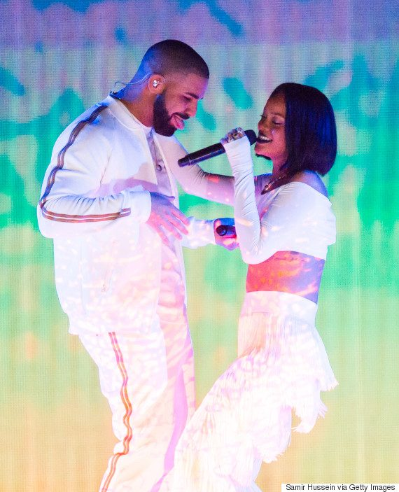 BRIT AWARDS 2016 - Drake and Rihanna
