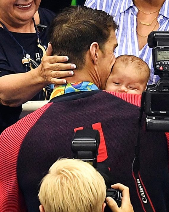 Michael Phelps and son